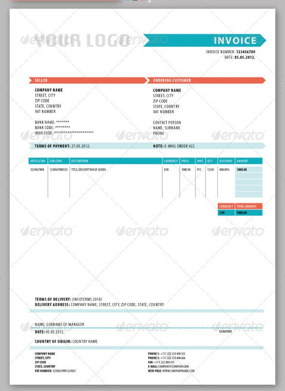 20 Blank Invoice Templates – Delivery Ticket Template