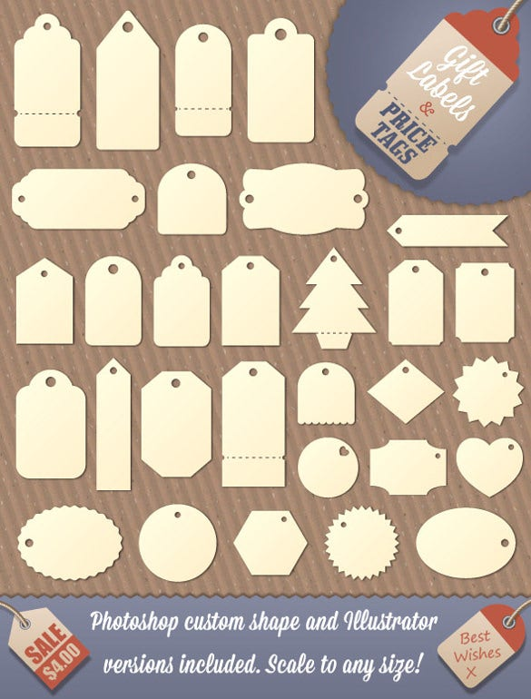 Gift tag template free premium templates these are customizable and editable gift tag templates that can be used by simply downloading and printing out the different shapes offered will make sure negle
