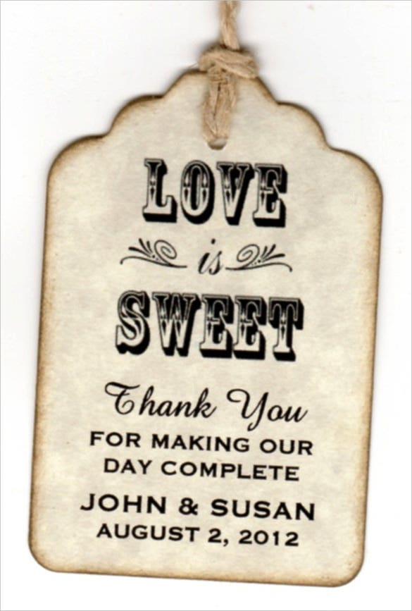Wedding Thank You Gift Tags Template : Gift Tag Template Free & Premium Templates