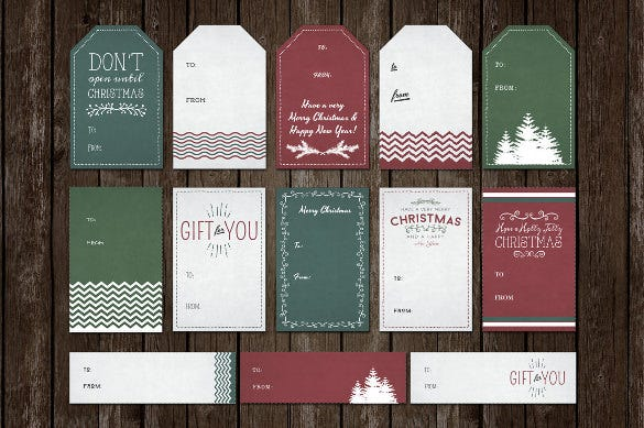 Gift Tag Template   Free Printable Vector Eps Psd  Ai