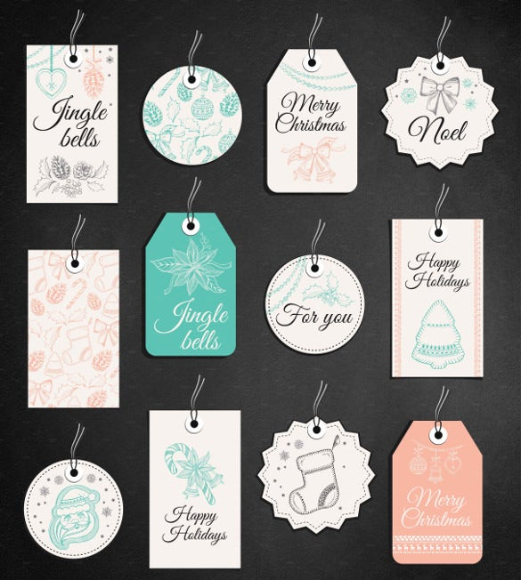 christmas gift tag printable template download