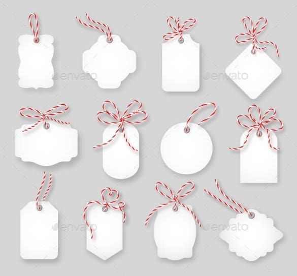 Gift tag template free premium templates these downloadable gift cards come with tied up twine bows these are in vector eps format and come in different shapes negle Images