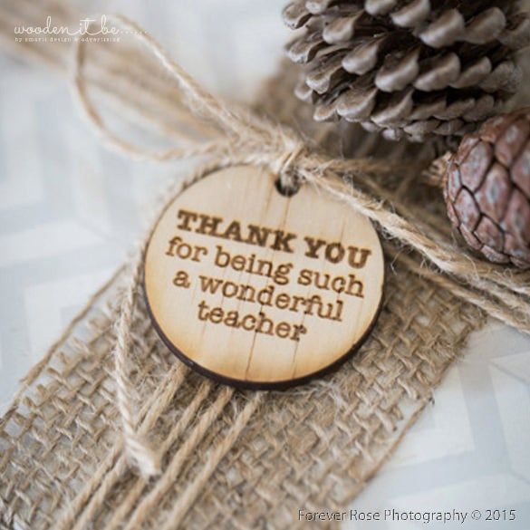 wooden round teacher gift tag printable template