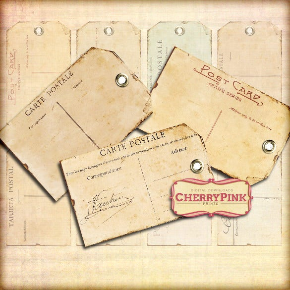 vintage gift tag template