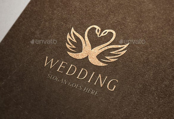 swan wedding crest logo