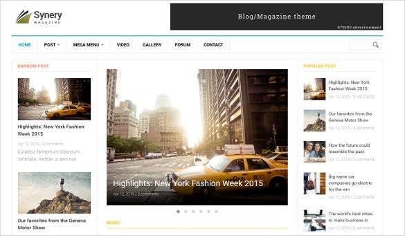 synery responsive magazine news drupal theme