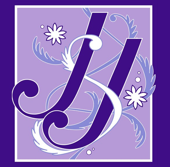 wedding logo design on purple background template download