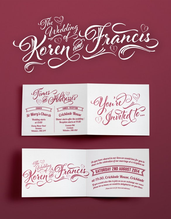wedding logo and invitation template