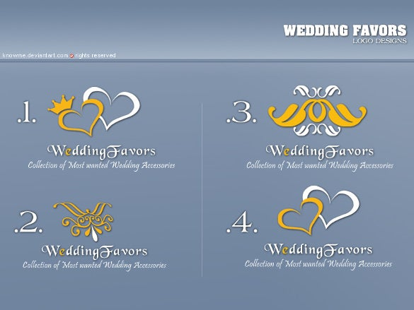 wedding favours logo design