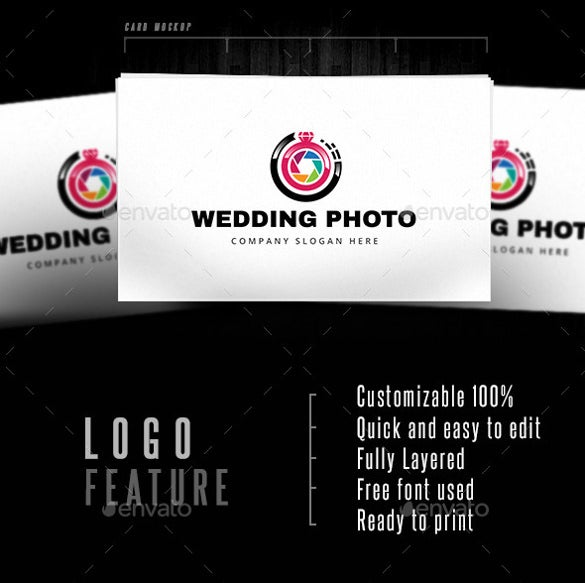 wedding photo logo ai illustrator template