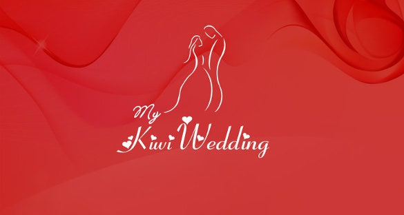 wedding logo in red colour