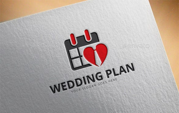 wedding plan logo template