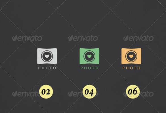wedding photography logo template download1