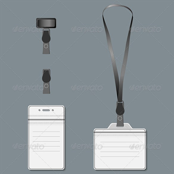 lanyard and retractor with vector eps format
