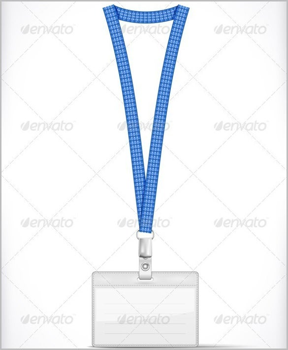 lanyard with tag badge holder printable template 1