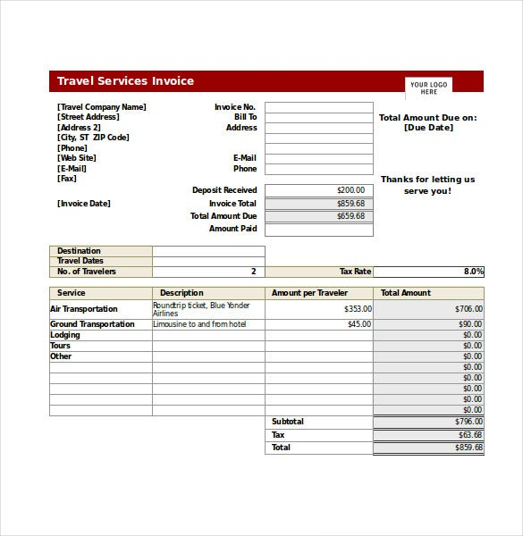 Travel Invoices