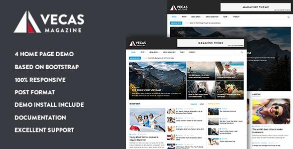 vecas responsive magazine news drupal theme