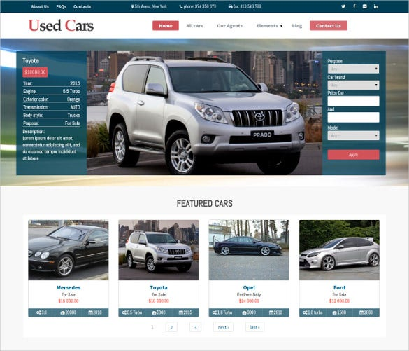 used cars drupal theme