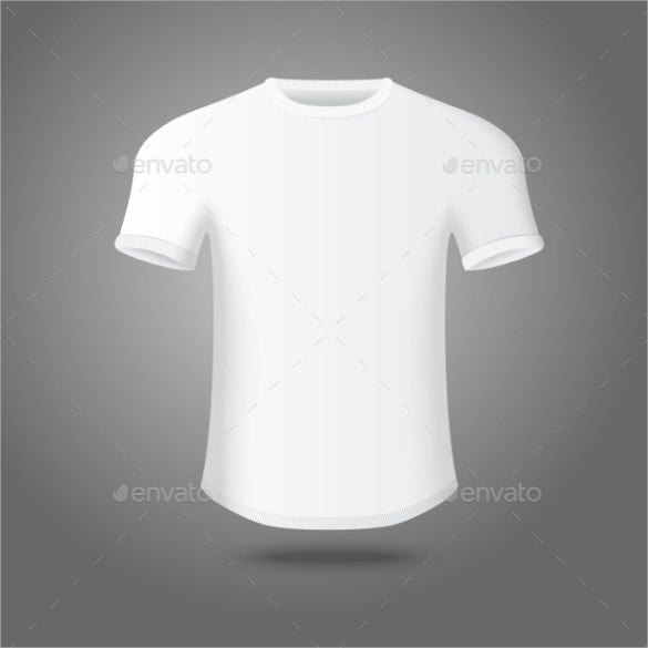 Blank Male T Shirt Template