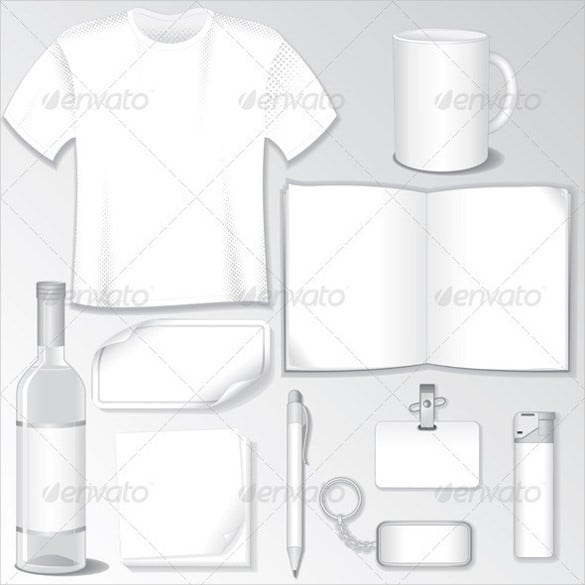 white design blank t shirt template with set