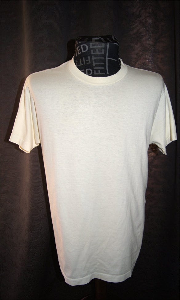 vintage blank t shirt combed cotton