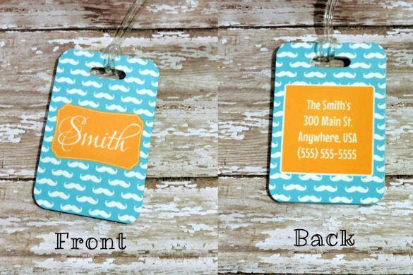 Luggage Tag Template  SkiroPkIProTk
