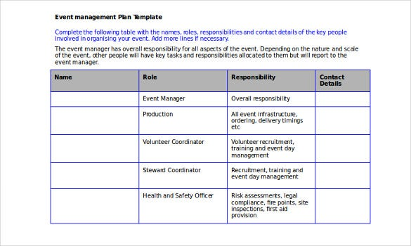 event management plan template and guidance notes1