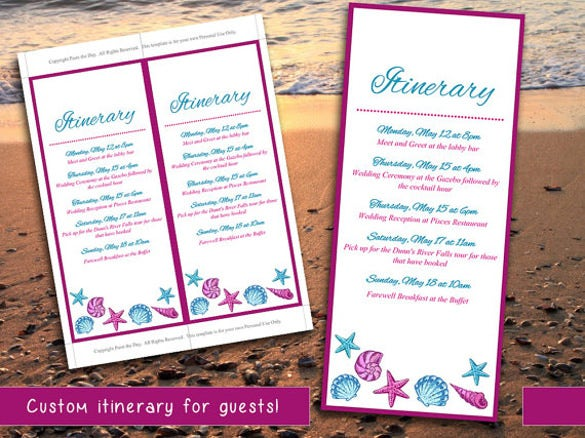 Event Itinerary Template - 5 Free Word Documents Download | Free ...