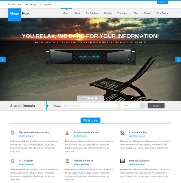 responsive hosting drupal theme