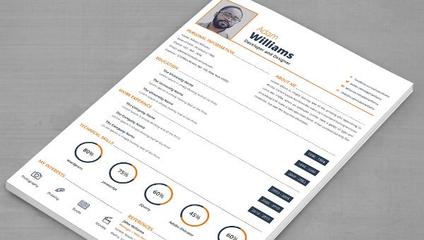 developer  u0026 designer resume   cover letter   template