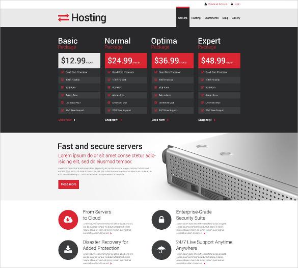 hosting responsive drupal template