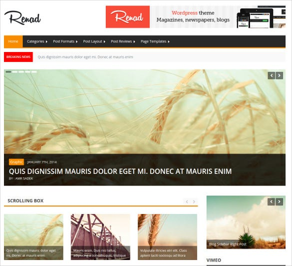 renad news magazine html 5 theme