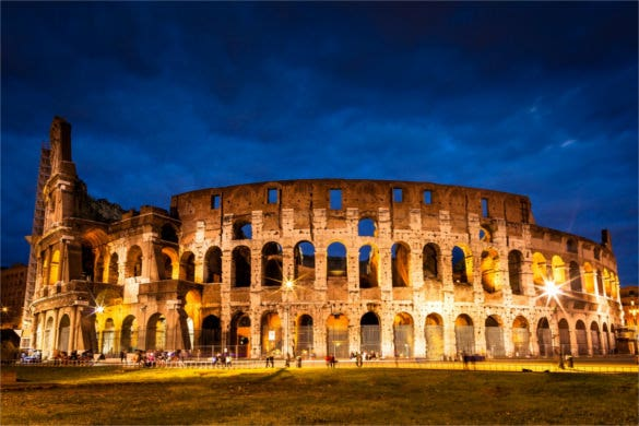 Colosseum at the Night Time - Rome
