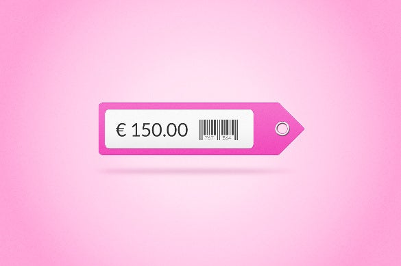 fully resizeable price tag psd format