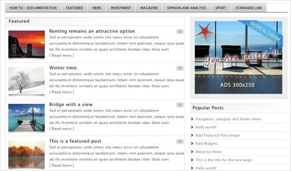le news – wordpress theme