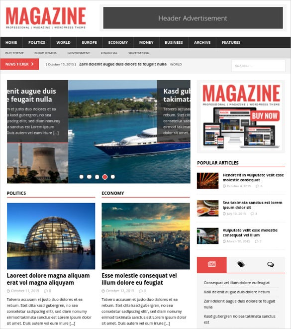 Mh Magazine WordPress Html 5 Theme