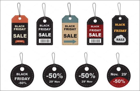 black friday price tag psd format