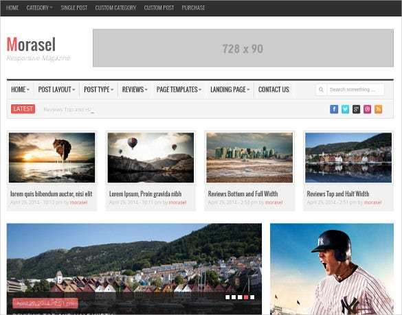morasel responsive news wordpress html 5 theme