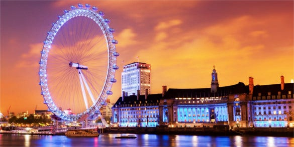 London Eye in England Full