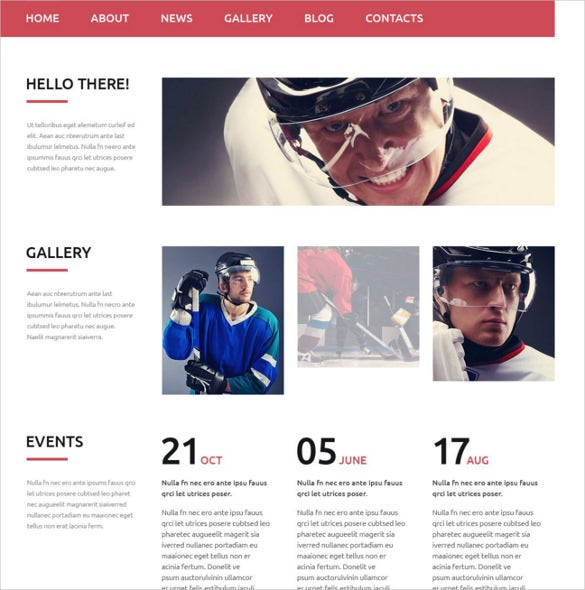 hockey news portal website template