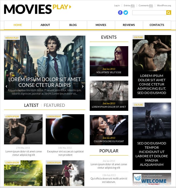 world fashion news portal wordpress html 5 theme