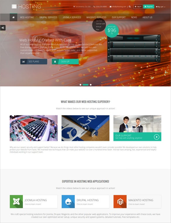 multipurpose hosting drupal theme