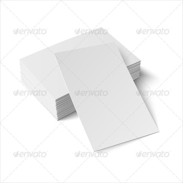 stack of blank business cards vector illustrated
