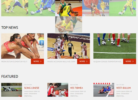 sports news responsive wordpress html 5 theme