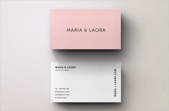 Blank business card template 39 business card templatefree pink modern blank business card template customizable wajeb Gallery