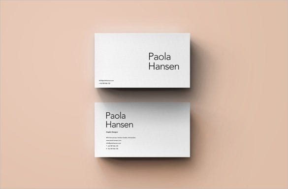 blank studio business card template