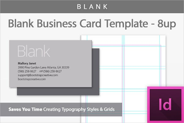 Blank Business Card Template Business Card Template