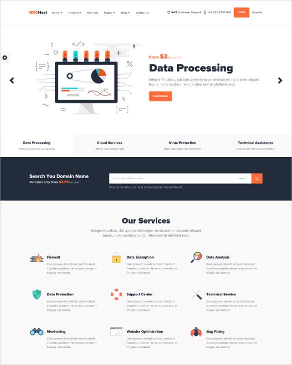 hosting service drupal provider theme