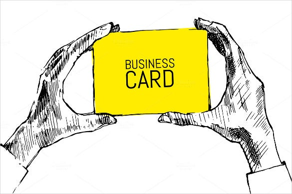 hands holding blank business card1