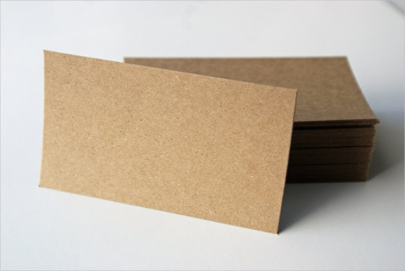 kraft brown bag paper blank business card set of 40
